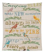 Camping Rules-c Tapestry