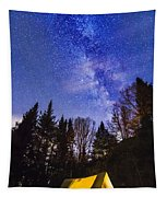 Camping Under The Milky Way Tapestry
