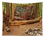 Campsite By The Box Car Tapestry
