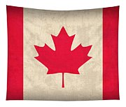 Canada Flag Vintage Distressed Finish Tapestry