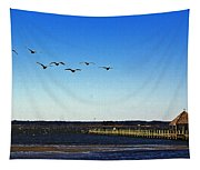 Canada Geese At Northside Park Tapestry