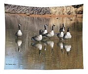 Canadian Geese Watching Tapestry