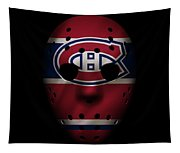 Canadiens Jersey Mask Tapestry