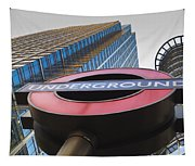 Canary Wharf Tube Sign Tapestry