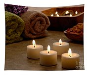 Candles In A Spa Tapestry