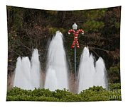 Candy Cane Water Fountain Tapestry