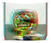Candy Jar - Use Red-cyan Filtered 3d Glasses Tapestry