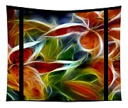 Candy Lily Fractal Triptych Tapestry