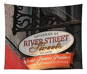 Candy Shop Sign Tapestry