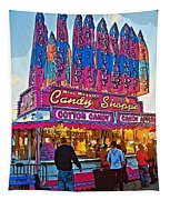 Candy Shoppe Line Art Tapestry