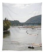 Canoeing On The Potomac River At Harpers Ferry Tapestry