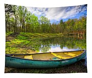 Canoeing At The Lake Tapestry