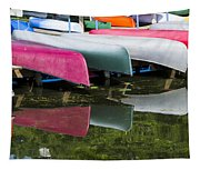 canoes - Lake Wingra - Madison  Tapestry