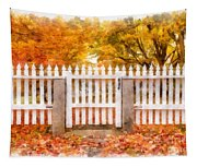 Canterbury Shaker Village Picket Fence  Tapestry