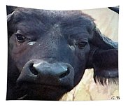 Cape Buffalo Up Close And Personal Tapestry
