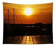 Cape May Harbor At Sunrise Tapestry