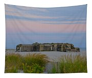 Cape May Wold War Two Concrete Bunker Tapestry