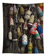 Cape Neddick Lobster Buoys Tapestry
