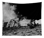 Capital Reef National Park In Black And White  Tapestry