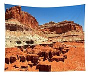 Capitol Reef Twin Towers Tapestry