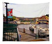 Cap'n Jacks Marina Harbor Walt Disney World Tapestry