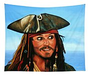 Captain Jack Sparrow Painting Tapestry