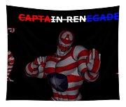 Captain Renegade Super Hero Combating Crime Tapestry