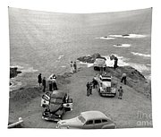 Car Over Edge On Highway One  Big Sur  California    March 27 1947 Tapestry