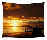 Caramel Skies Tapestry