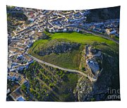Carcabuey Castle From The Air Tapestry