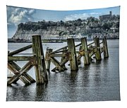 Cardiff Bay Old Jetty Supports Tapestry