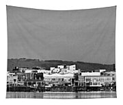 Cardiff Bay Panorama 2 Mono Tapestry