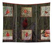 Cardinal Family Tapestry