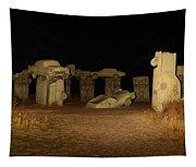 Carhenge At Night Tapestry