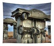 Carhenge Automobile Art 2 Tapestry