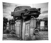 Carhenge Automobile Art 4 Tapestry