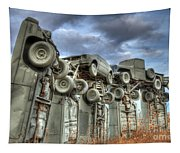 Carhenge Automobile Art Tapestry