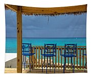 Caribbean View-island Grill Grand Cayman Tapestry