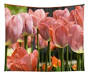 Caring Pink Tulip Time Tapestry