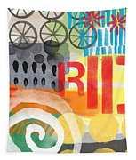 Carousel #6 Ride- Contemporary Abstract Art Tapestry