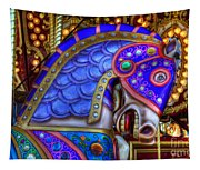 Carousel Beauty Blue Charger Tapestry