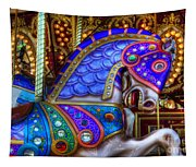Carousel Beauty Prancing Tapestry