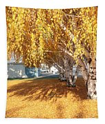 Carpet Of Yellow Leaves Tapestry
