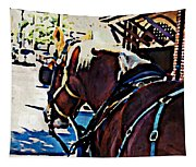Carriage Horse Tapestry