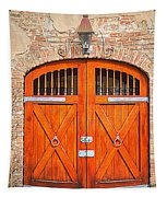 Carriage House Doors Tapestry