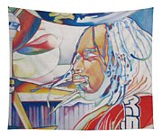 Carter Beauford Colorful Full Band Series Tapestry