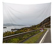 Cartoon - Road Along The Loch Alsh In The Scottish Highlands Tapestry