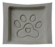 Carved Sand Paw Print Tapestry