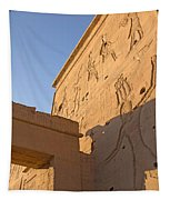 Carved Wall Of The Temple  Philae  Tapestry
