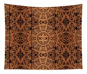 Carved Wooden Cabinet Symmetry Tapestry